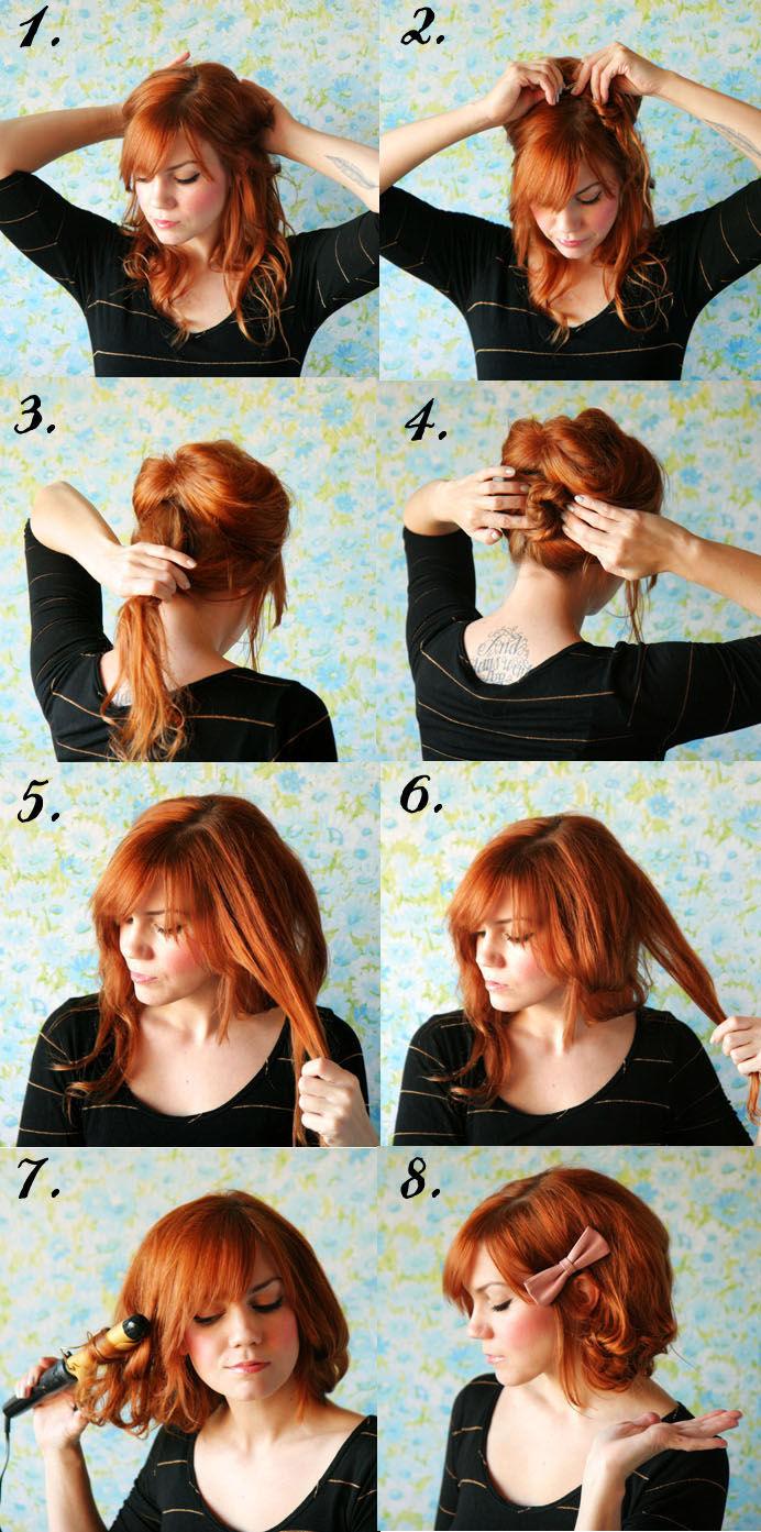 Рецепт прически с короткими волосами с