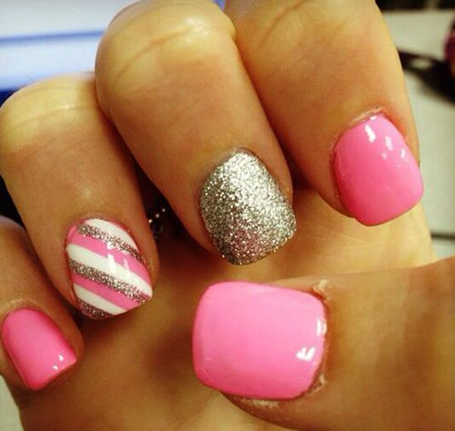 Pink And Gold Nail Art Pictures, Photos, And Images For
