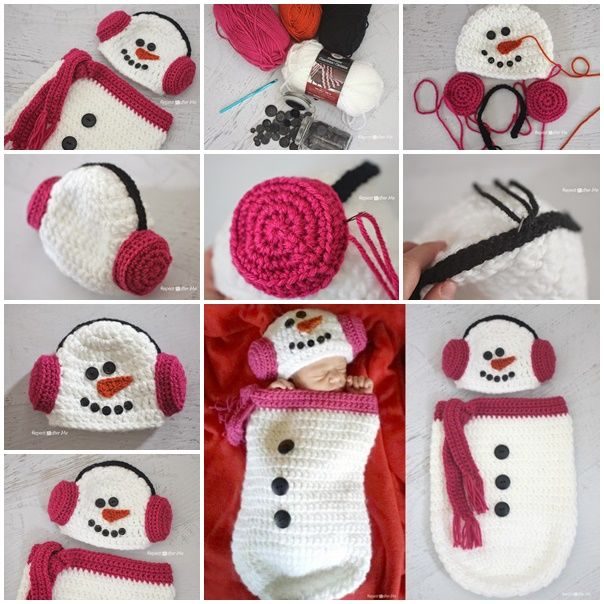 Crochet Free Pattern Muff : DIY Crochet Snowmen Ear Muffs Pictures, Photos, and Images ...