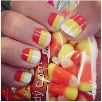 Candy Corn Nail Art Pictures, Photos, and Images for ...