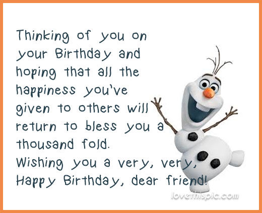 Birthday Quote Classy Olaf Happy Birthday Quote Pictures Photos And Images For Facebook