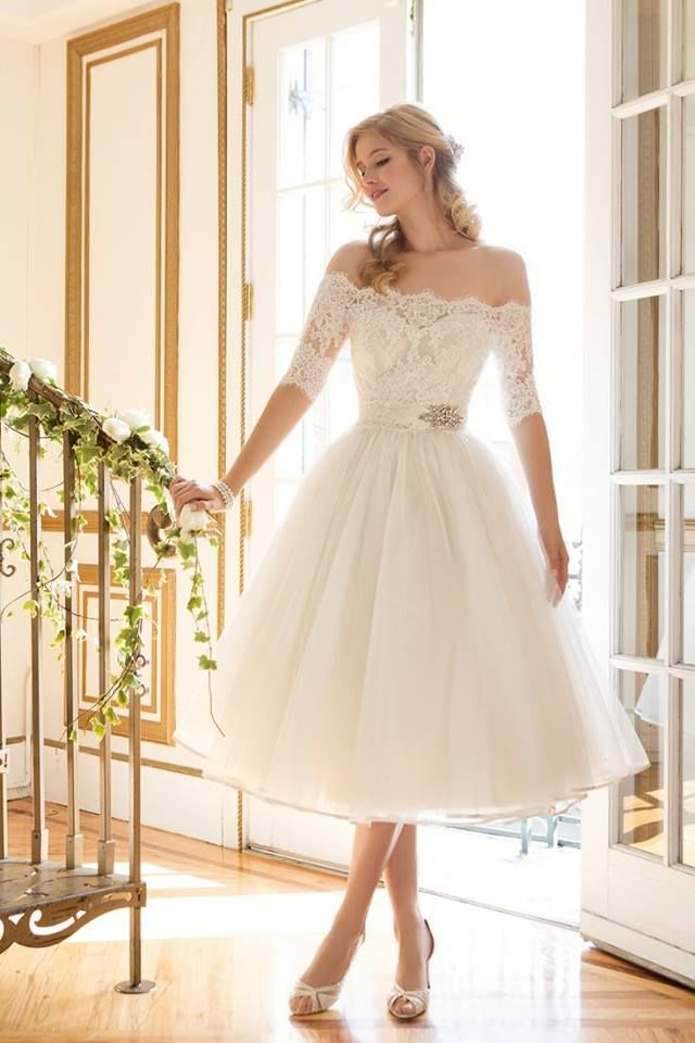 Beautiful Short Wedding Gown