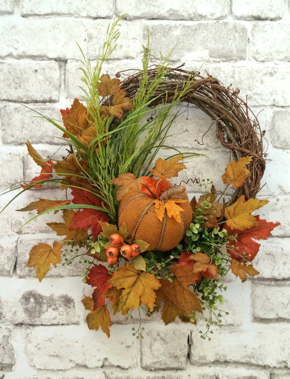 Pumpkin Fall Wreath Pictures Photos And Images For