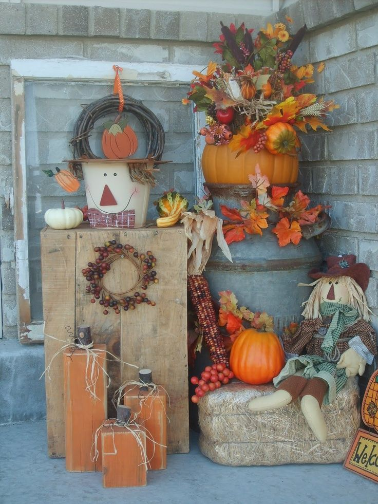 Outdoor Fall Decorations Pictures Photos And Images For