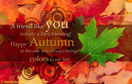 Happy Autumn Friend Pictures Photos And Images For