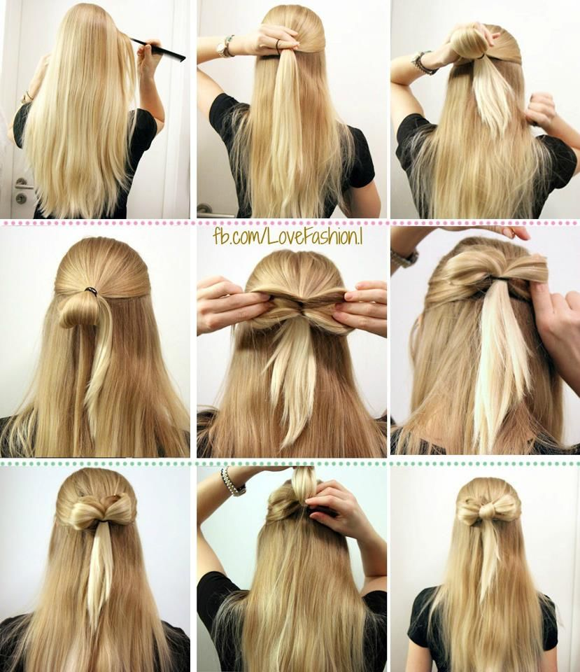 How to hair a style bow