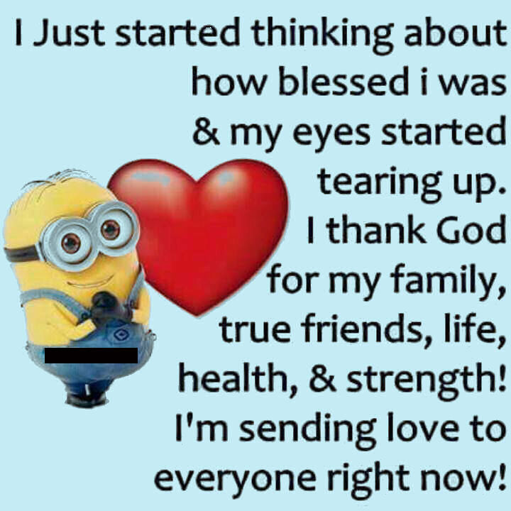 I Love My Family Quotes Cool Sending Love To All My Family And Friends Minion Quote Pictures