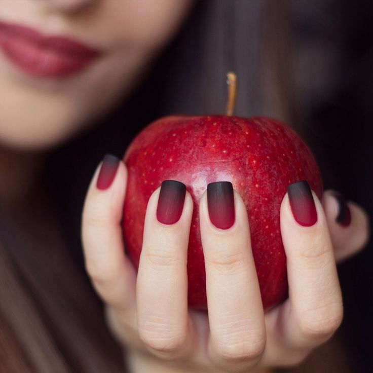 Red Matte Gradient For Halloween Apple Nails Pictures ...