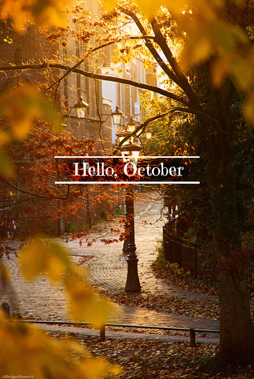 Hello October Tumblr Quote