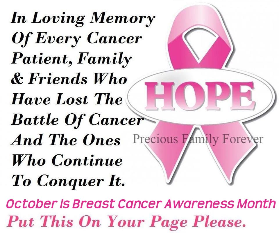 October breast cancer awareness month quotes