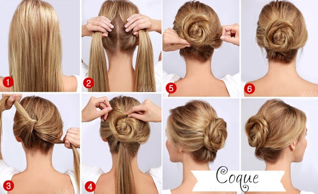 Peachy Easy Quick Twisted Bun Hairstyle Pictures Photos And Images For Hairstyles For Women Draintrainus