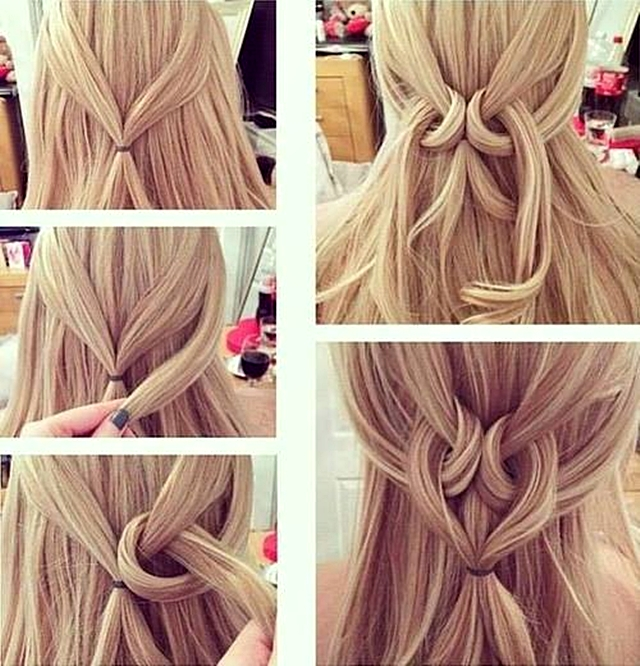 Простые причёски своими руками для длинных волос