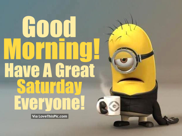 Good Morning Everyone Saturday : Good morning have a great saturday everyone pictures