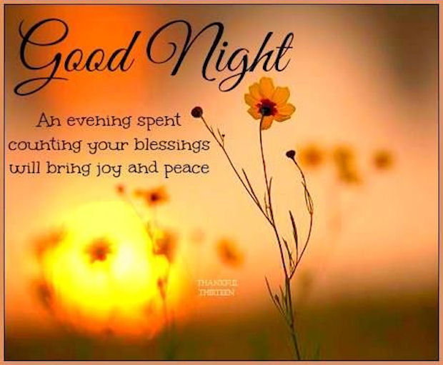 Good Night Count Your Blessings It Will Bring Joy Pictures