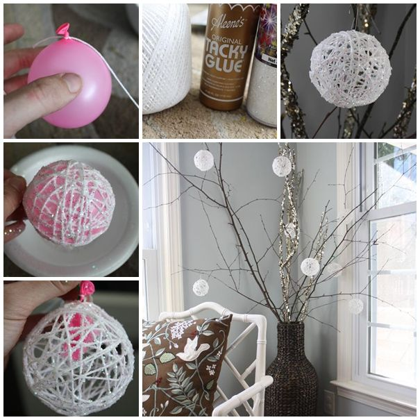 A Guide To Using Pinterest For Home Decor Ideas: DIY Christmas Snowball Ornaments Pictures, Photos, And
