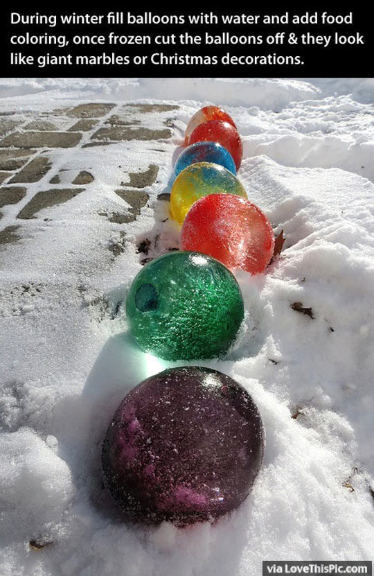 How To Make Marble Ball Decorations In The Winter Pictures Photos