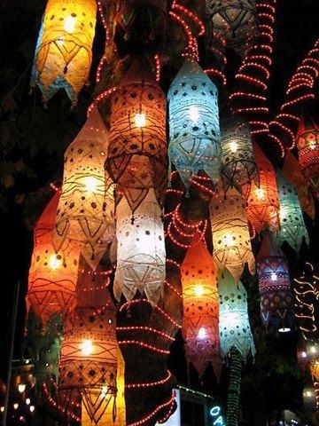 Paper lanterns in fall colors pictures photos and images for Paint night home parties