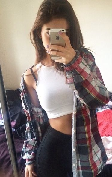 Crop Top Under Flannel Pictures Photos And Images For