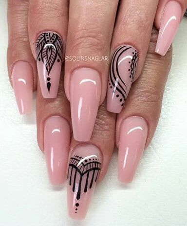 pink stiletto nail art pictures photos and images for facebook tumblr pinterest and twitter. Black Bedroom Furniture Sets. Home Design Ideas