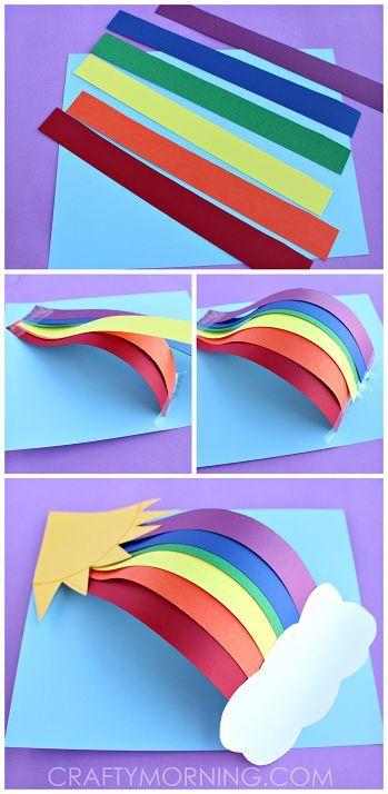 Как сделать радугу из бумаги