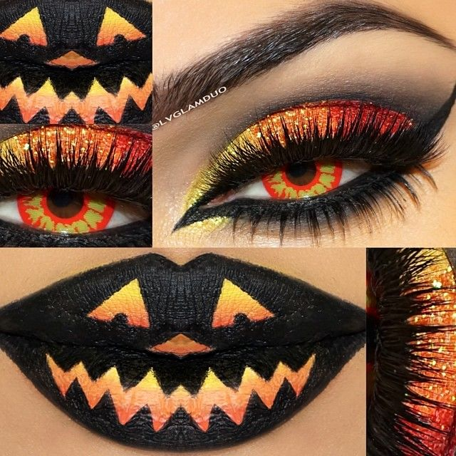 halloween eye and lip makeup pictures photos and images