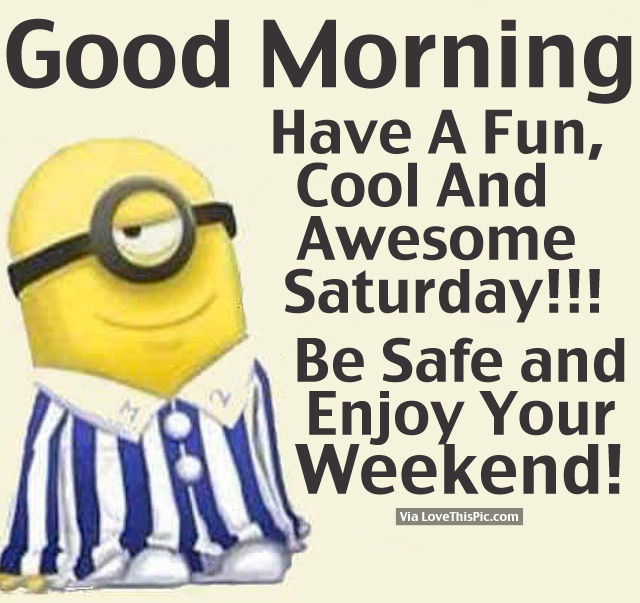 Funny Happy Saturday Quotes: Good Morning, Have A Fun, Cool And Awesome Saturday