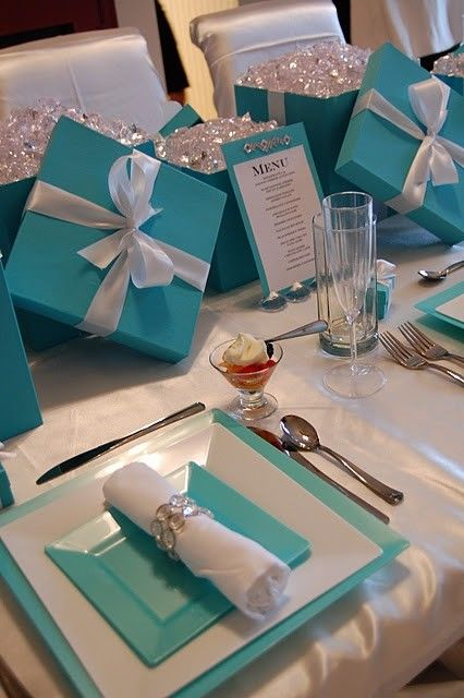 Breakfast At Tiffany S Bridal Shower Luncheon Tablescape
