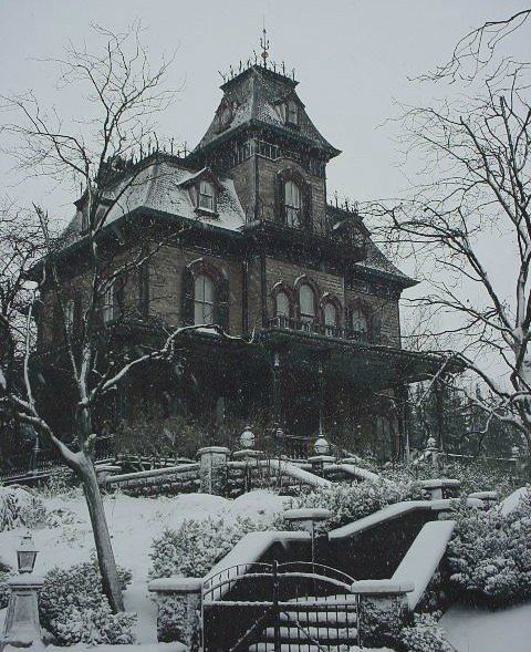 Haunted House In The Winter Pictures Photos And Images
