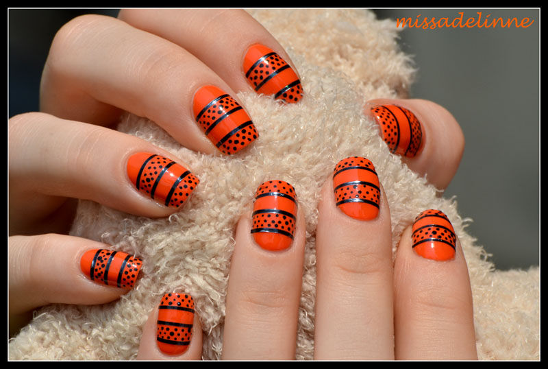 Orange And Black Nails - Orange And Black Nails Pictures, Photos, And Images For Facebook