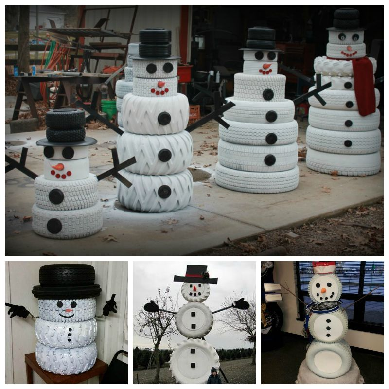 diy snowman tires pictures photos and images for facebook tumblr pinterest and twitter. Black Bedroom Furniture Sets. Home Design Ideas