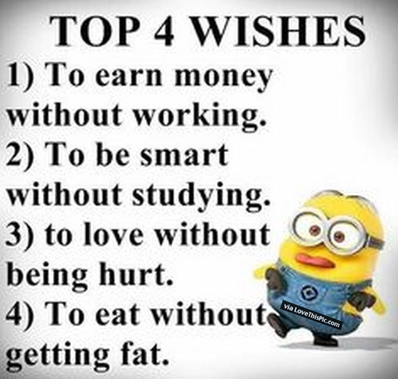 top 4 wishes joke minion