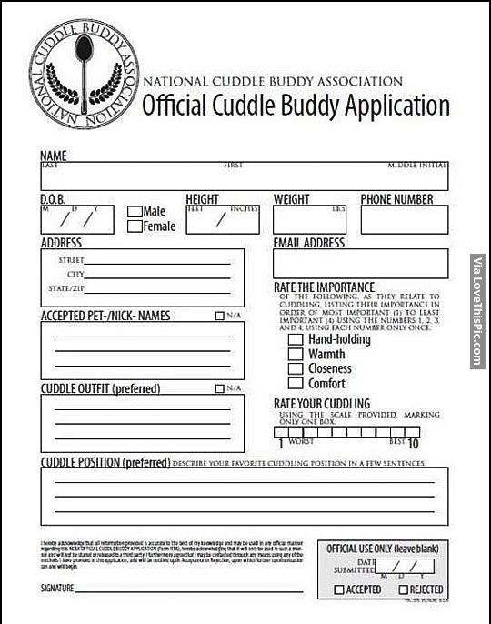 cuddle buddy applications  Cuddle Buddy Application Pictures, Photos, and Images for Facebook ...