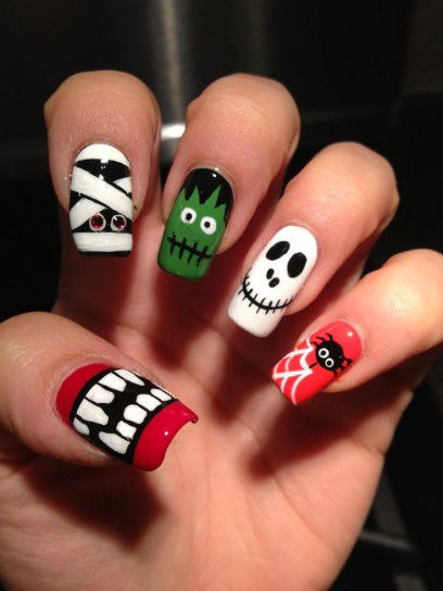 Halloween Monster Combo Nails Pictures Photos And Images For Facebook Tumblr Pinterest And