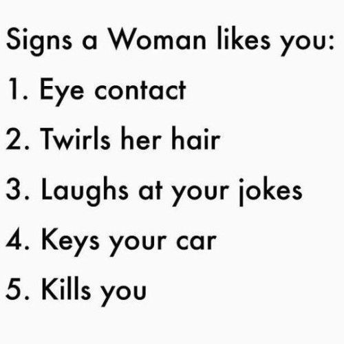 Woman Likes You Signs