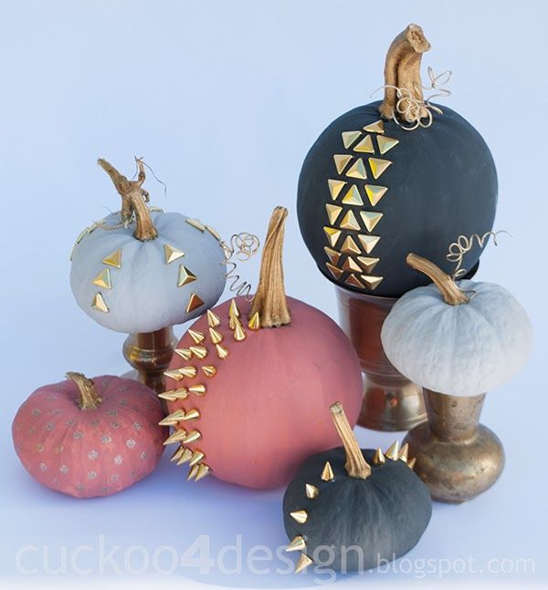 Studded Chalk Paint Pumpkins Pictures Photos And Images
