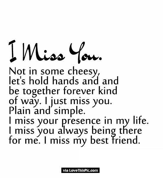 Sad I Miss You Quotes For Friends: I Miss You I Miss My Best Friend Pictures, Photos, And