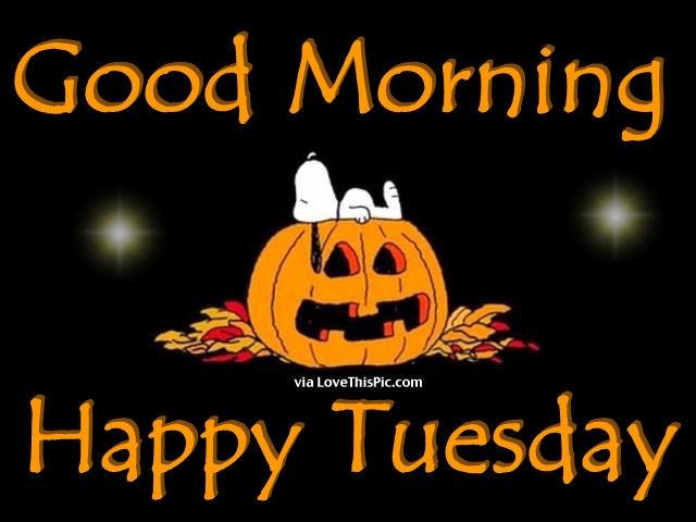 Good morning happy tuesday snoopy jack o lantern pictures photos good morning happy tuesday snoopy jack o lantern voltagebd Gallery
