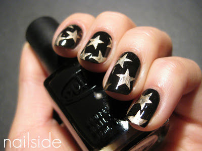Black and gold star nails pictures photos and images for - Como pintarse las unas ...