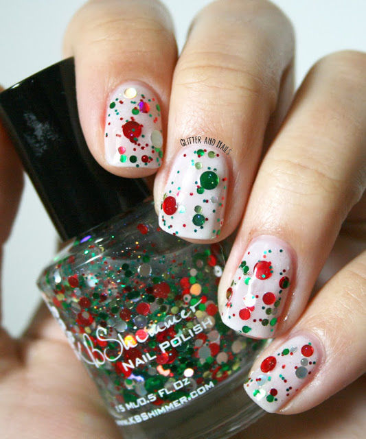 Christmas Nails Green And Red: Red And Green Glitter Nails Pictures, Photos, And Images