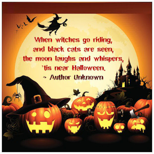 50 Best Happy Halloween Quotes Wishes Greetings And Sayings With Pictures: Tis Near Halloween Quote Pictures, Photos, And Images For