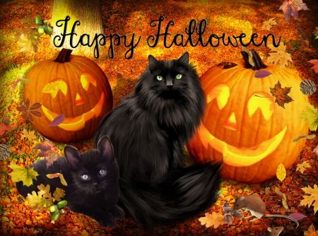 Happy Halloween Black Cats Pictures, Photos, and Images for ...