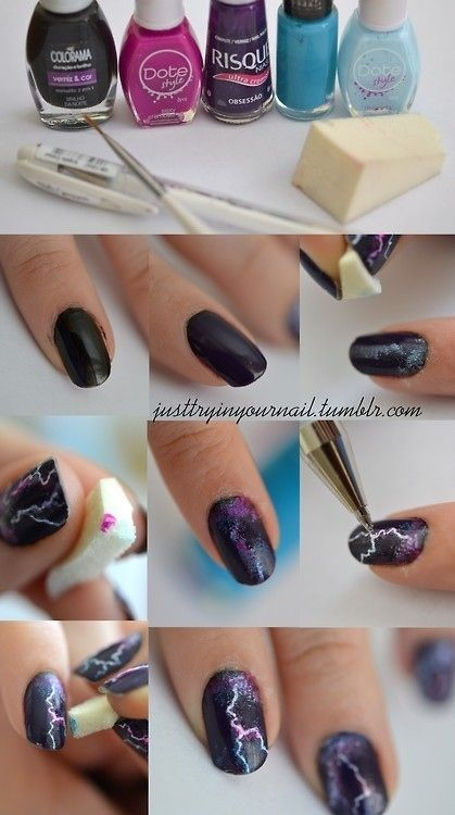 Lightning Galaxy Nail Art Pictures, Photos, and Images for Facebook ...