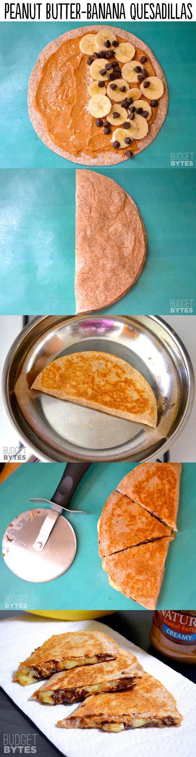 Peanut Butter Banana Quesadillas Pictures, Photos, and Images for ...