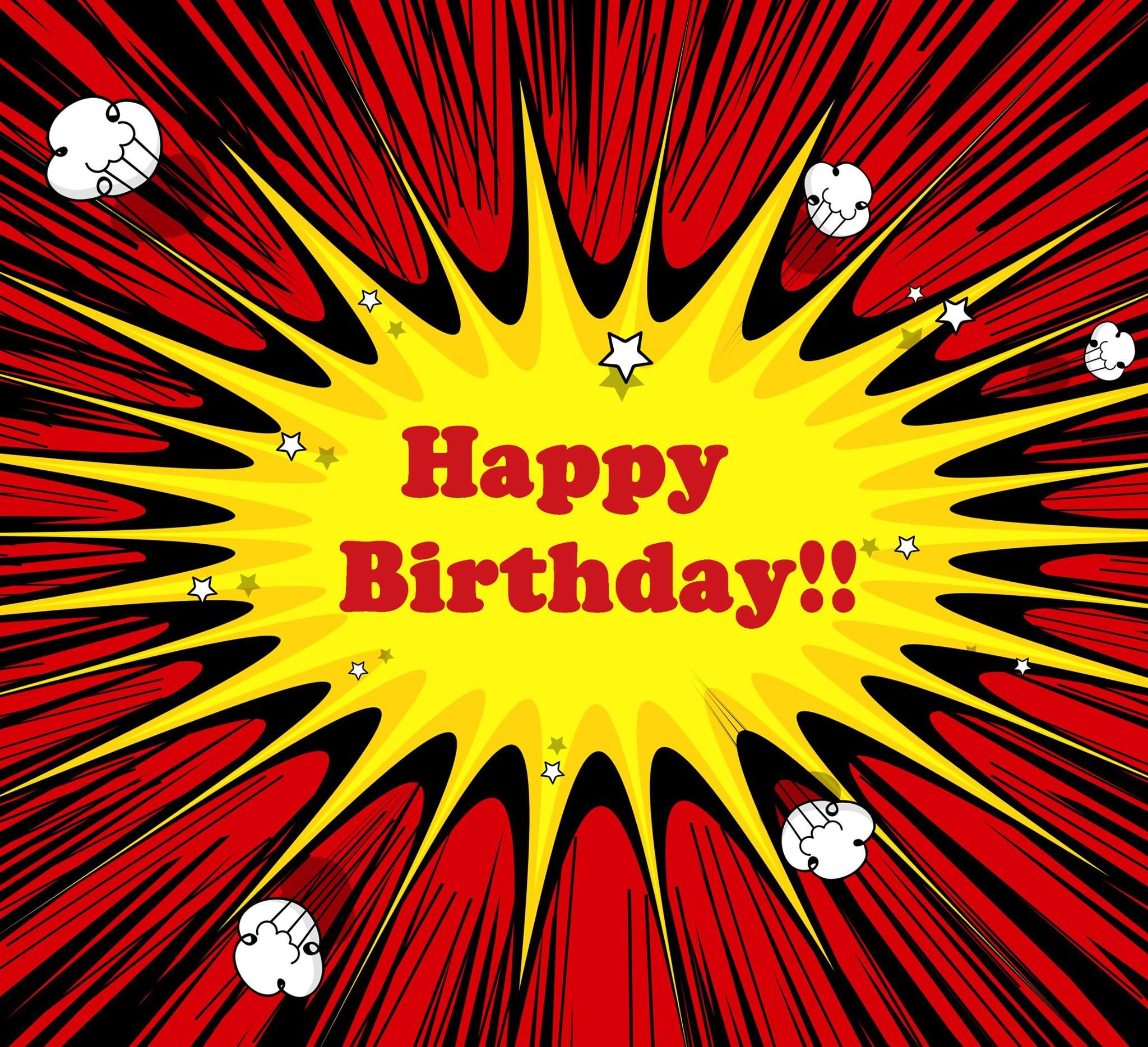 Comic Book Style Happy Birthday Pictures Photos And Images For