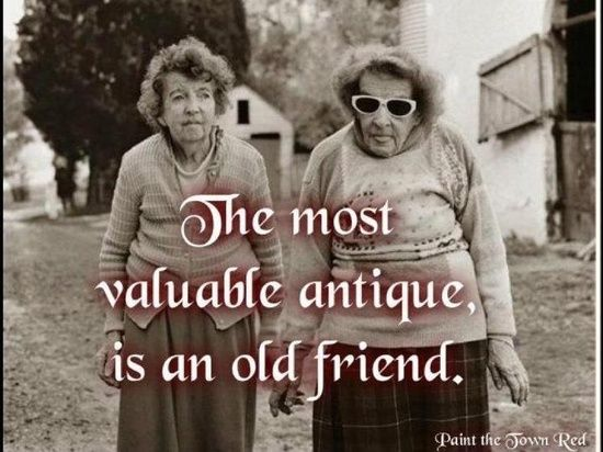 the most valuable antique is an old friend pictures photos and