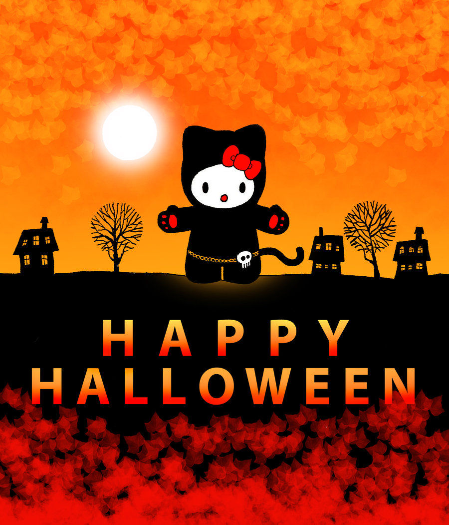 Happy halloween hello kitty pictures photos and images for facebook tumblr pinterest and - Hello kitty halloween ...