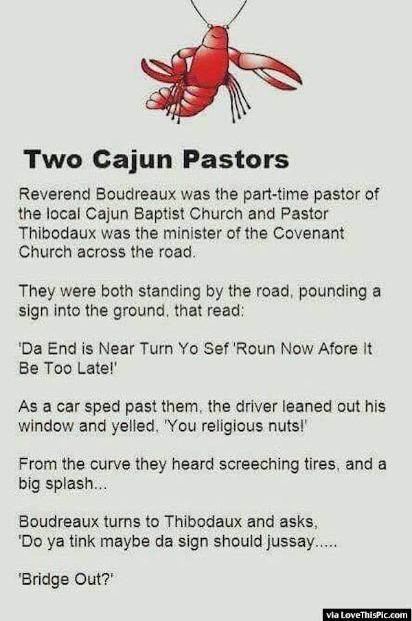 Two Cajun Pastors Joke Pictures, Photos, and Images for ...