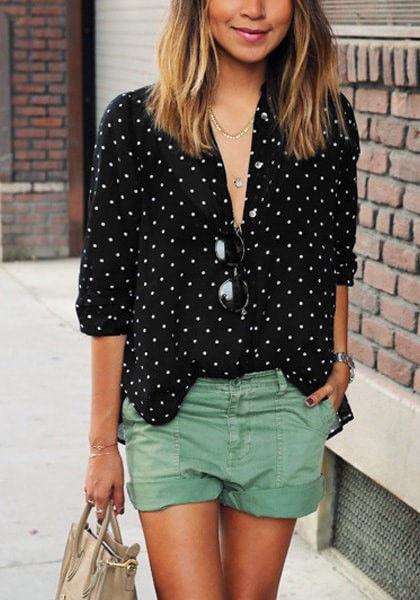 Polka dot button down shirt pictures photos and images for Button down polka dot shirt