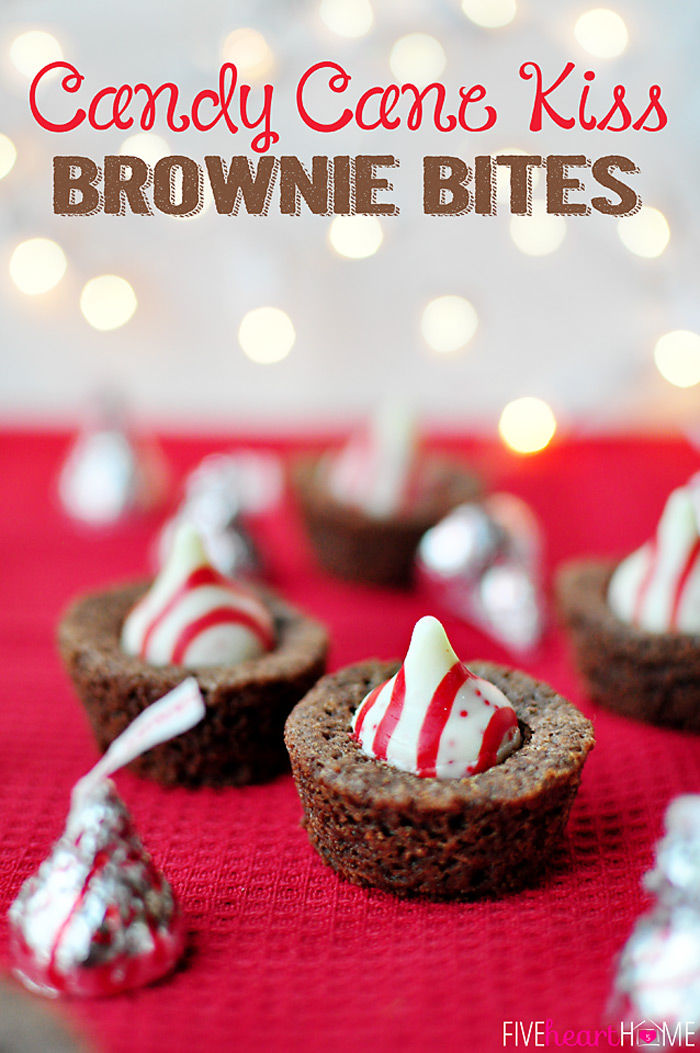 Candy Cane Kiss Brownie Bites Pictures Photos And Images