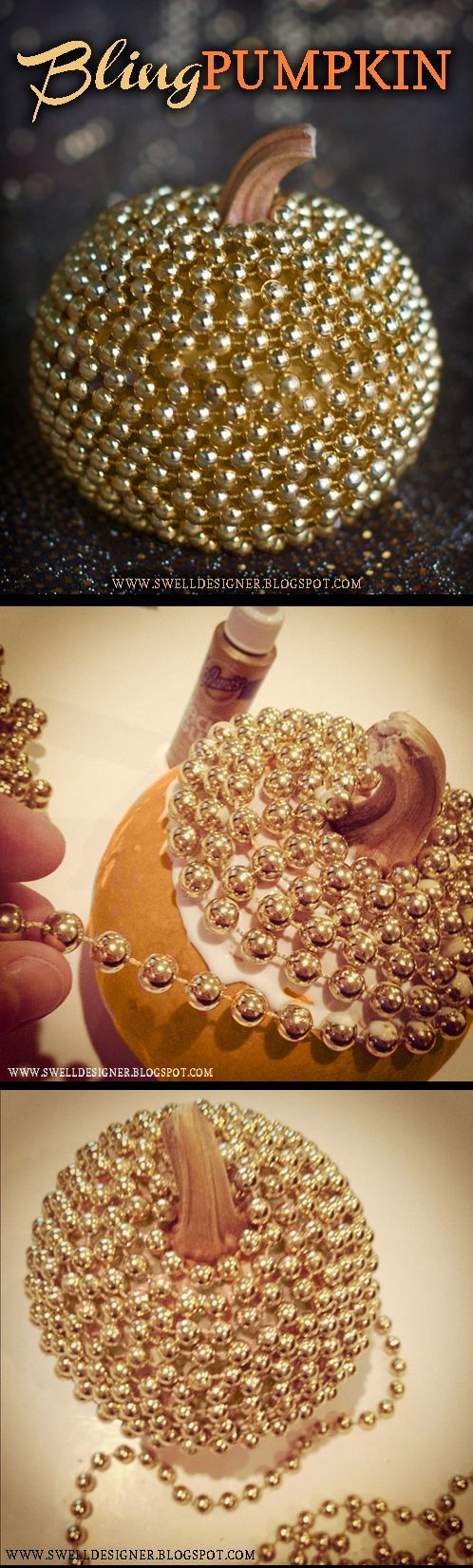 Diy bling pumpkins pictures photos and images for - Decoration halloween a fabriquer ...